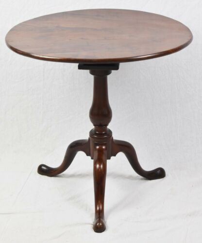 Antique Queen Anne Mahogany Tilt Top Tea Table Early 1800s Williamsburg Style
