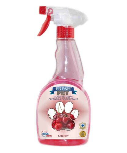 Fresh Pet Spray Cleaner Paw Friendly, kills 99.9% germs 500 ml - Cherry