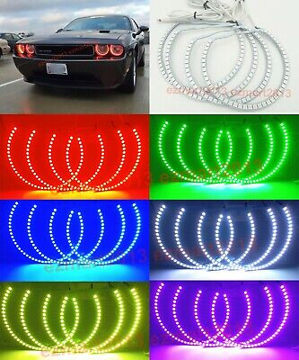 RF RGB 4 Halo Rings for Dodge Challenger 08-14 car headlight LED Angel Eye DRL
