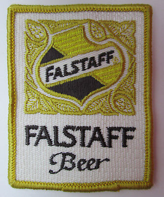 """Falstaff Beer Patch 2 1/2"""" by 3 1/4"""" vintage Breweriana New Old Stock NOS"""