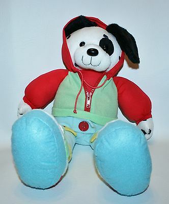 Dress Me Up Puppy Plush Dalmatian Dog Hoodie Buckles Snaps Zipper Interactive