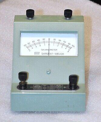 Sargent Welsh Scientific Galvanometer Model S-30305 Vintage School Surplus