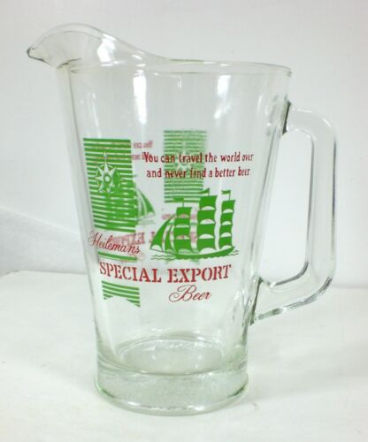 Vintage SPECIAL EXPORT Large Beer Glass Pitcher Drinkware Breweriana Pouring