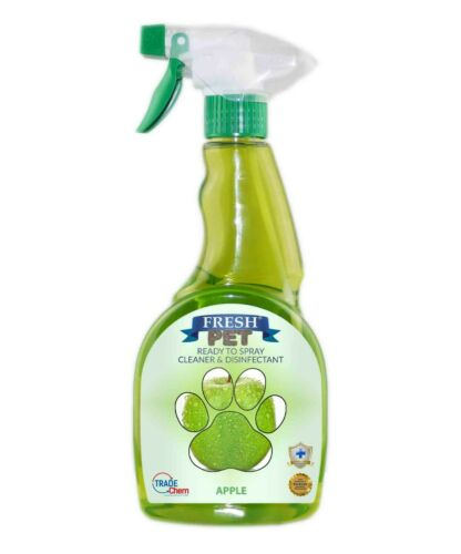 Fresh Pet Spray Cleaner Paw Friendly, kills 99.9% germs 500 m - Apple