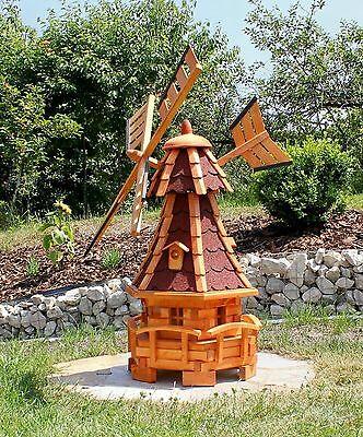 holzwindmühlen Mulino a vento con solarbeleuchtungtyp 11.1