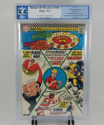 DC House of Mystery #160 PGX 5.5 First 1st Appearance of Plastic Man DC 1966