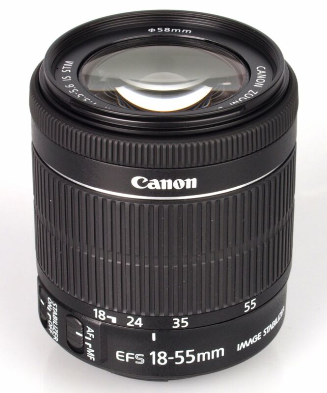 Canon EF-S 55-250mm f/4-5.6 IS STM Telephoto Zoom Lens for Select Canon Cameras Black 8546B002