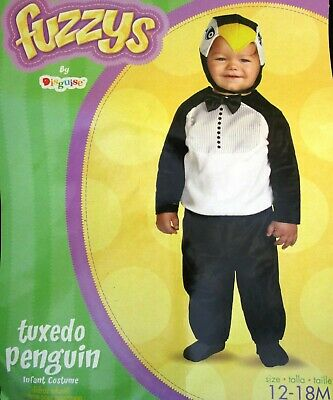 🐧 Tuxedo PENGUIN Baby Toddler Costume * CUTE PHOTOS * Size 12 - 18 Months GUC - Baby Penguin Costume