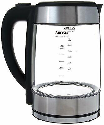 AROMA PROFESSIONAL AWK-165M 1.7 L Glass Electric Kettle / NE
