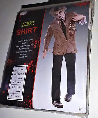 Herren Kostüm Horror Zombie Jacke + Shirt  Karneval Fasching Halloween M/L - Zombie Kostüm