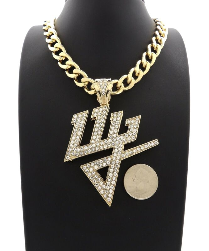 New Iced Daddy Yankee Pendant With 20 11mm Cuban Chain Polybullcom