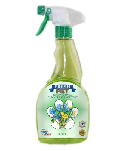 Fresh Pet Spray Cleaner Paw Friendly, kills 99.9% germs 500 ml - Floral
