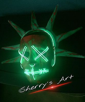 THE PURGE 3:Soft Crown! ELECTION YEAR LADY LIBERTY HARD MASK** Ships Worldwide*