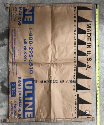 "10 Pack of 24"" x 34"" Kraft Dunnage Bags"