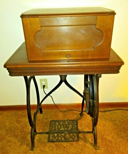 Antique Elias Howe Treadle Sewing Machine 1860-1870sh Good Condition