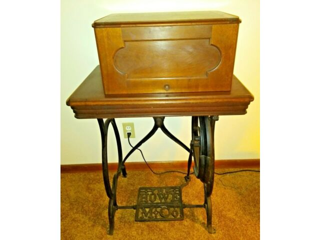 Antique Elias Howe Treadle Sewing Machine 1860-1870sh Good Condition