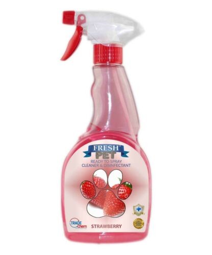 Fresh Pet Spray Cleaner Paw Friendly, kills 99.9% germs 500 ml - Strawberry
