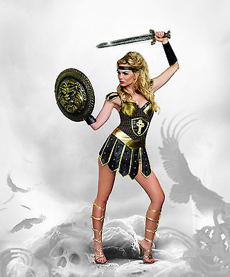 Sexy Dreamgirl Adult Women's Halloween Queen of Swords Warrior Gladiator Costume