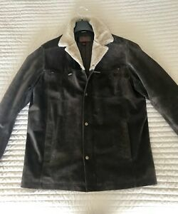 Daniel Genuine Dark Brown Suede Leather men's med Jacket