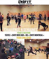 Entraînement | 24Fit Challenge 4 semaines | Remise en forme