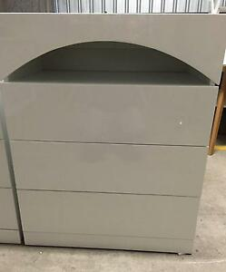 NEW   WHITE   TALLBOY 3 DRAWER HIGH GLOSS  . Fairfield Fairfield Area Preview