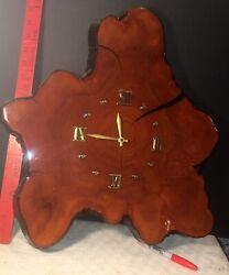 wall clock ,bog cedar slice, actual tree slice