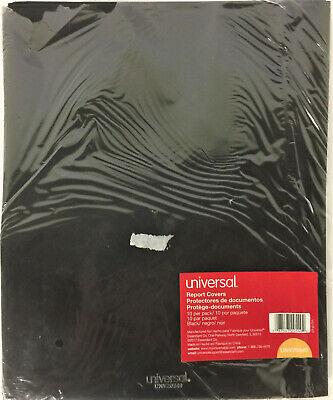 Universal 20540 Two-pocket Plastic Folders 11 X 8 12 Black 10pack
