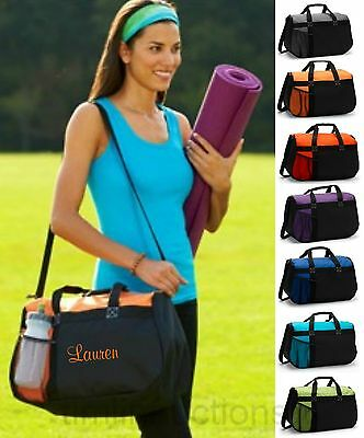 Personalized Gym Bag Sports Duffel Cheer Gymnastic Yoga Diaper Travel Carry On (Gymnastic Bags)