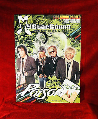 Poison Set Of 2 Promo Posters    Rare    Bret Michaels