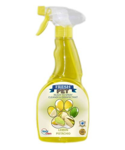 Fresh Pet Spray Cleaner Paw Friendly, kills 99.9% germs 500 ml - Lemon Pistachio