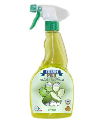 Fresh Pet Spray Cleaner Paw Friendly, kills 99.9% germs 500 ml Citrus