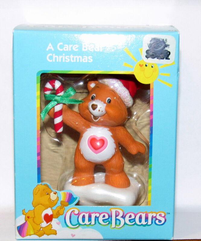 Care Bears Ornament 2003 American Greeting Tenderheart Bear with Candy Cane NIB