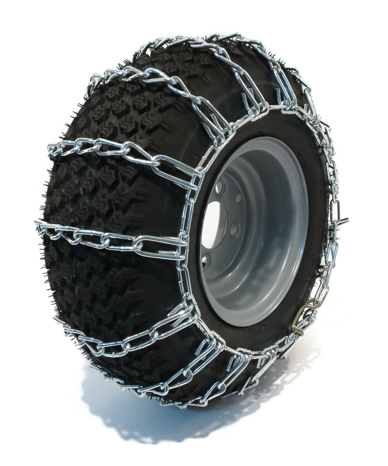 Pair 2 Link Tire Chains 26x12 12 For Kubota Lawn Mower