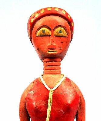 Art African African-american Kunst Arte Tribal Antique Colon Baoulé - 27 Cm