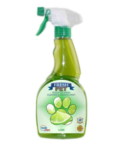 Fresh Pet Spray Cleaner Paw Friendly, kills 99.9% germs 500 ml - Lime