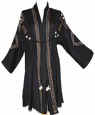 1X XL Ethnic Embroidered Gypsy Hippie Boho Bohemian Trench Kimono Style Coat