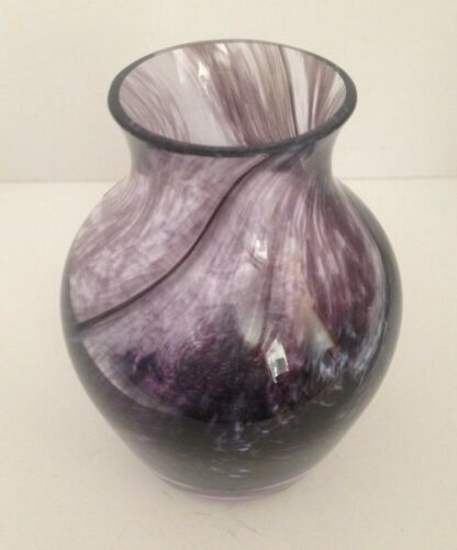 CAITHNESS SCOTLAND VINTAGE ART GLASS POSY VASE - LOVELY!