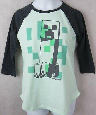 Minecraft Girls Creeper T-Shirt New Green Mojang Officially Licensed