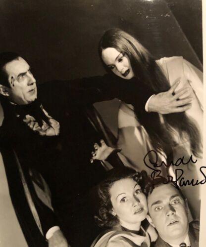 Carol Borland SIGNED PHOTO as Luna MARK OF THE VAMPIRE with Bela LUGOSI Dracula