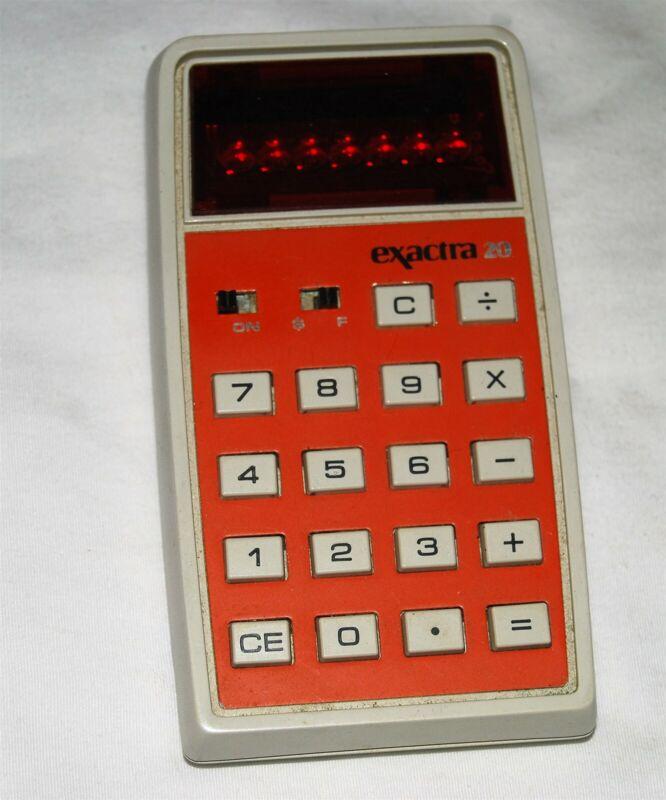 Texas Instruments Rare Exactra 20 Calculator Working fine