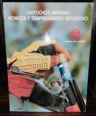 VINTAGE RARE CARDBOARD SIGN IMPERIAL SHOTGUN CARTRIDGE DISPLAY ORBEA ARGENTINA