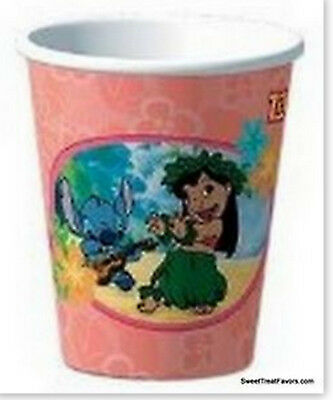 Lilo and Stitch Birthday Decoration Party CUPS Supplies Beach Hawaii 8 PCS - Beach Birthday Party Supplies