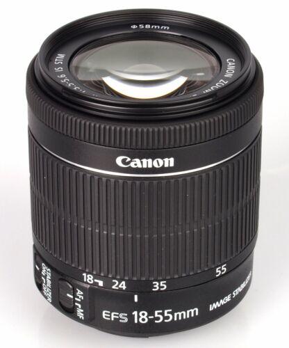 ComprarBrand New Original  Canon EF-S 18-55mm F4-5.6 IS STM Bulk Box Black ES*1