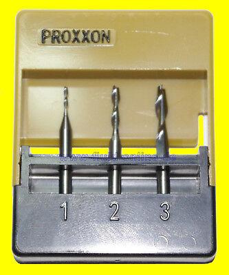 PROXXON 27116 Satz Schaftfräser 1mm + 2mm + 3mm Fräser für MF70 27110 - NEU