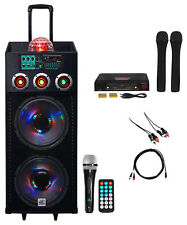 NYC Acoustics Dual 12 Karaoke Machine/System w/2) Mics 4 ipad/iphone/Android/TV