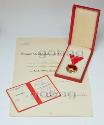 Hungary - Order of the Red Banner of Labor 1954, document important person