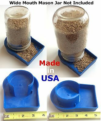 USA 2 pcs Heavy Duty Chick Feeder Poultry Gamefowl Chicken Quail hatching eggs