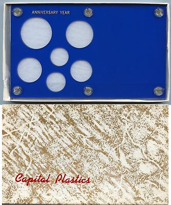 Capital Plastics Anniversary Year 6 Coin Holder Cent To Small Dollar 26 5Mm Blue
