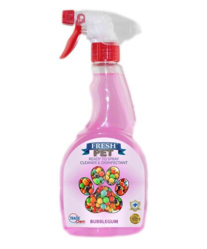 Fresh Pet Spray Cleaner Paw Friendly 500 ml kills 99.9% germs - Bubblegum