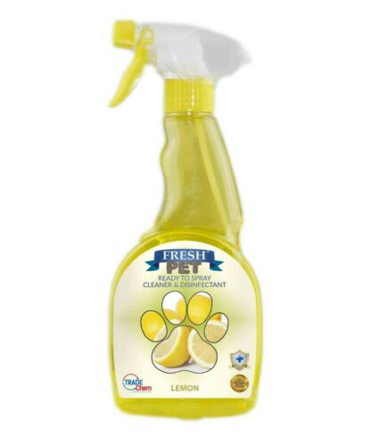Fresh Pet Spray Cleaner Paw Friendly, kills 99.9% germs 500 ml - Lemon